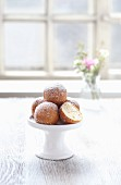 Quark doughnuts on an étagère