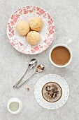 Italian Almond Amaretti Cookies and Coffee