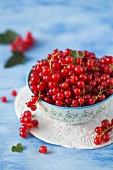 Fresh red currant in a bowl