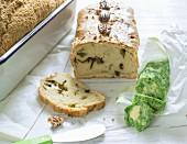 Wild garlic butter with wild garlic bread