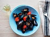 Mussels with tomato alla tarantina (Apulia, Italy)