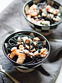 Spaghetti pasta with squid ink (Italy)