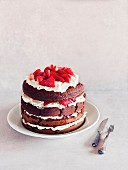 Strawberry cake with cream (Italy)