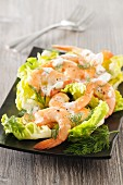 Prawn salad with dill