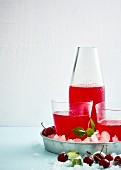 Cherry lemonade with gin