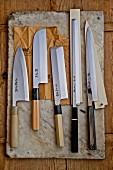 Verschiedene japanische Messer