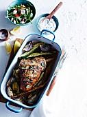 Greek lamb roast