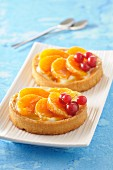 Buckwheat tartlets with mandarins