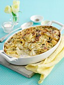 Kartoffelgratin in Backform