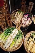Nara Zuke (Eingelegtes Gemüse, Japan) auf dem Markt