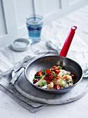 Crab Omelette mit Sauce Vierge
