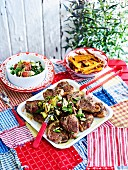 Peppered rosemary lamb chops