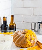 Beer cake with grated carrots