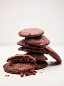 Chocolate cookies, stacked