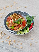 Lime chicken with tomatoes and coriander