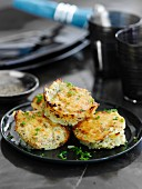 Potato fritters with fresh herbs