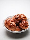 Cinnamon rolls in a bowl