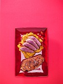 Roasted duck breast, whole and sliced (Asia)