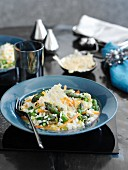 Risotto with green asparagus and carrots