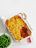 Cottage pie (ground beef with mashed potato, England)