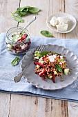 Buchweizensalat mit Feta und Spinat