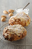 Chocolatine aux Amandes (pastries with chocolate and almonds, France)