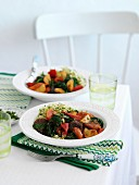 Moroccan vegetable tagine with couscous