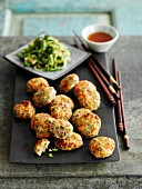 Fish balls with a cucumber relish (Thailand)