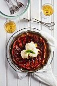 Classic tarte tatin with salted caramel ice cream