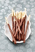 Chocolate-dipped sticks