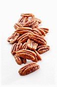 A pile of pecan nuts