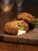 Fishcakes filled with cheese