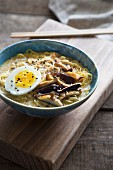Ramen with shiitake mushrooms