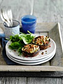 Stuffed mushrooms with herbs, cheese and garlic