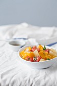 Orange and grapefruit salad with honey mint vinegrette