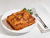 Portion of lasagnes