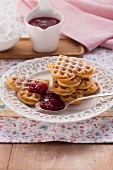 Classic waffles with red groats
