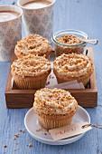 Cupcakes with peanut cream cheese