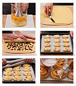 How to bake raisin and marzipan wheels