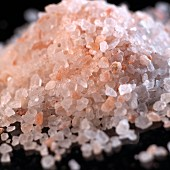 A pile of pink Himalayan salt