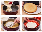 How to make a cream cake with strawberries