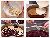 How to make blueberry cheesecake with a biscuit base