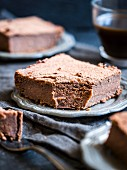 Healthy flourless gluten-free sweet potato brownies.