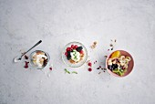 Three dessert bowl variations