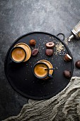 Espresso and chocolate pralines