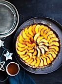 Peach and buttermilk tart