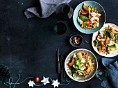 Peach, Mozzarella and fregola salad