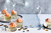 Prosecco jellies with Aperol Granita