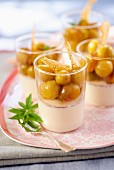 Panna cotta with mirabelles