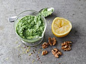 Vegetarian kale and walnut pesto